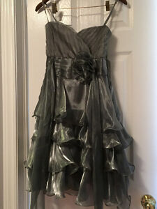 Silver Christmas/New Year's Dress - Size M
