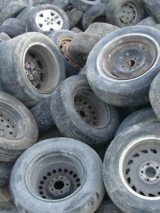 OLD TIRES ON RIMS – FREE PICK UP