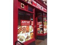 Takeaway pizza shop fish and chips kebab burger