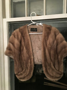 antique fur wraps  and hand muff
