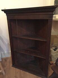 Georgian mahogany corner 3 shelf unit