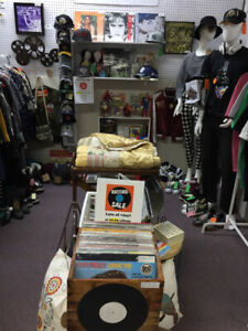 Vintage clothing, Converse shoes, Hats, T-shirts, Vinyl Records