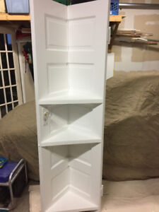 Selling the last two custom vintage style solid door shelf units