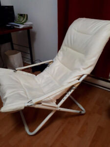 Beige lounge chair