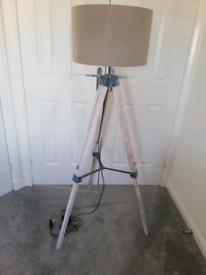 Next Grey tripod lamp