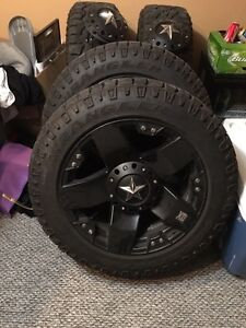 "20"" rockstar -24 offset with 275-55-20 DURATRACS"