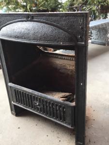 Victorian iron fireplace