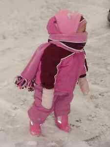 pink wintersuit for a girl 12 months