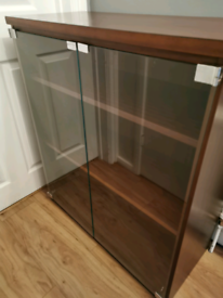 Quality solid bookshelves with glass doors