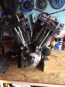 "Harley Davidson Twin Cam 96"" motor from FLHX."