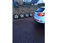 Kia Sportage alloys and snow tyres