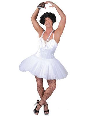 MENS WHITE STAG DO BALLERINA BALLET FANCY DRESS COSTUME TUTU STANDARD XL - Mens Ballerina Costume