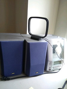 JVC FS-V10 compact stereo mini system  CD  cassette Radio color