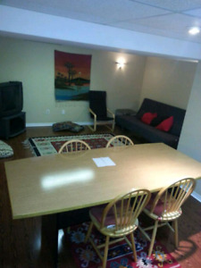 Basement apartment for rent furnished