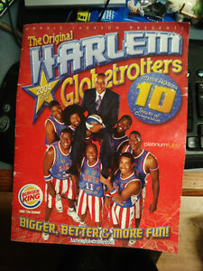 The Original Harlem Globetrotters 2004 World Tour Booklet Signed