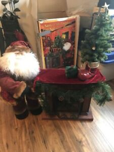 Santa with fireplace