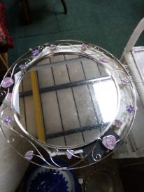 Charles Rennie Mackintosh style mirror.