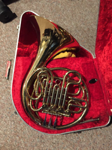 French Horn E.E. Olds & Son w/ case