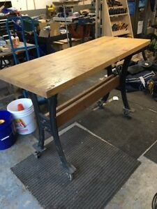 Lee Valley Cast Iron and Maple Top Workbench