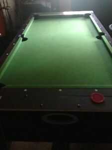 Classic Sport 2 in 1 Swivel - Pool and Air Hockey Table