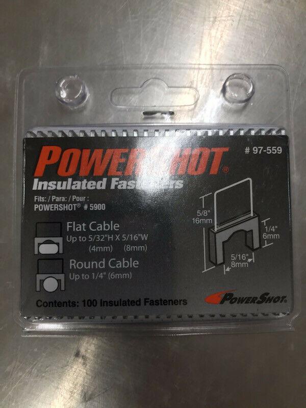 Arrow Fastener 97-559 PowerShot Insulated Fasteners 100 Count