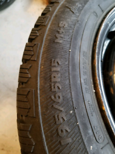 195/65r15 winter tires on rims *only 1 season
