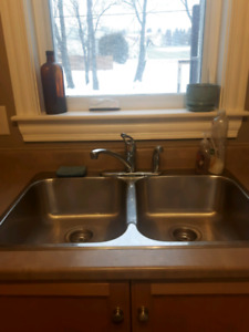 Countertop, sink, and faucet
