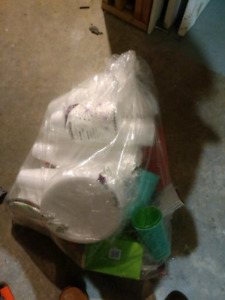 Large bag of disposable plates etc.