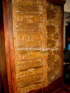 ANTIQUE HUGE INDIAN ARMOIRE