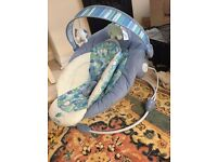 Baby bouncer blue