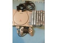 Ps1 bundle 6 games boxed Sony PlayStation 1 controller