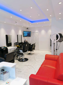 Hair Stylist, Eye lashes technician and Barber chair to rent.