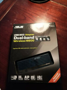 ASUS USB-N53 Dual-band Wireless-N600 Adapter for 20$