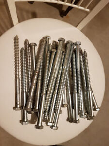 "27 - 8"" LAG BOLTS, NEW"