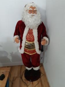 Large Singing Santa Clause