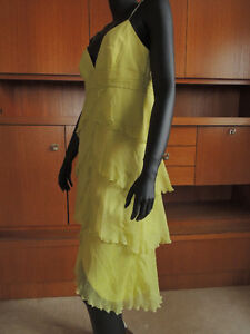 Shelli Segal, designer layered chiffon and silk dress. London Ontario image 1