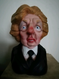 Vintage Spitting Image Maggie Thatcher Squeaky Dog Toy 1984
