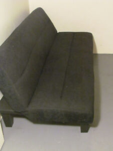 Futon Sofa Bed Suede Black 130 Holiday Deal