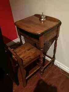 Telephone table with chair
