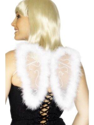 Smiffy Engel Kostüm (Kostüm Mini Fee Engel Flügel Weiß Glitzer 20x25cm von Smiffys)