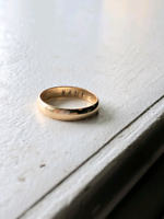 "Found Gold Engraved Ring ""Hank"""