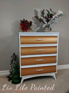 Refinished four drawer dresser