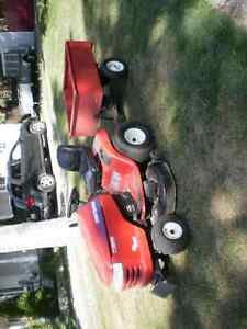 lawn tractor & trailer