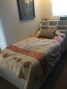 Twin Bedframe and Mattress