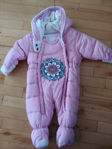 Deux par Deux winter jacket/manteau  hiver 6M baby girl / fille