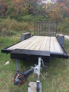 Landscape flatbed trailer