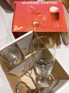 Spanish Coffee --Set of two (vintage 80's) new