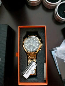 New mens gold toned watch $80