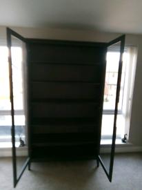 IKEA REGISSOR brown glass door cabinet