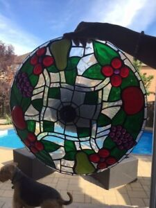 Beautiful Leaded stained glass ceiling lamp